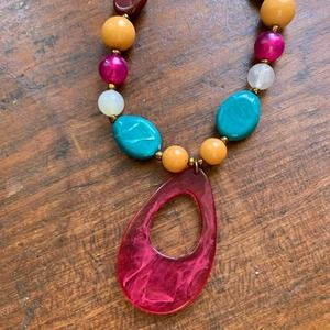 Colorful Beaded Collar Necklace